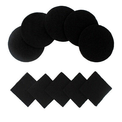 10 Pieces Activated Carbon Compost Bin Filter Refill Round + Square Black