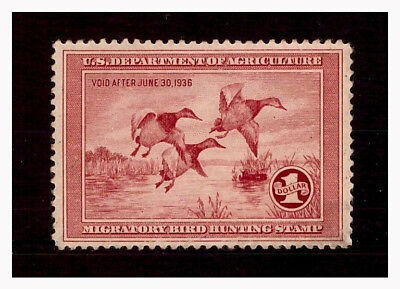 US Scott # RW2, UNUSED / VF DUCK STAMP with NO GUM and NO FAULTS!! SCV $165.00