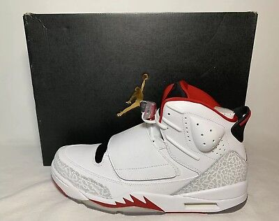 new product c9223 45929 Nike Air Jordan Son of Mars Men s Size 11.5 White Cement Red NEW 512245-112