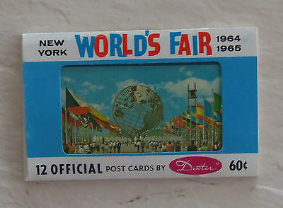 1964-1965 NEW YORK WORLD'S  12 official postcards in packet  Dexter