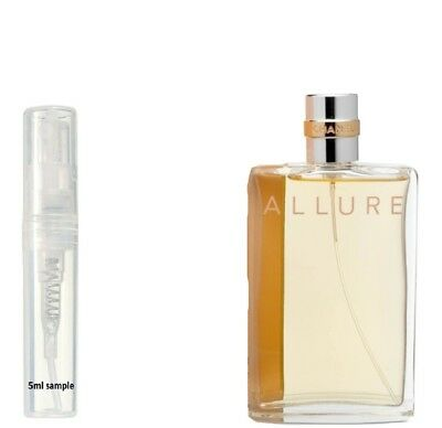 Chanel Allure Damen Parfum Eau De Toilette Edt 5ml Probe 100% Echt