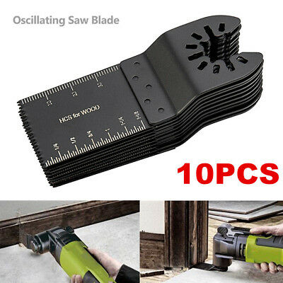 10 PCS DIY 34mm oscillating Multi tool saw blades Carbon Steel Cutter Universal