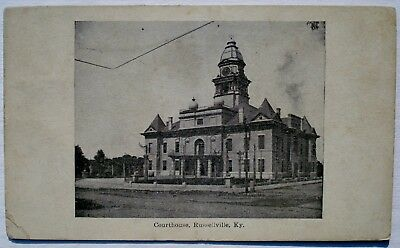 Vintage 1909 COURTHOUSE Russellville Kentucky POSTCARD