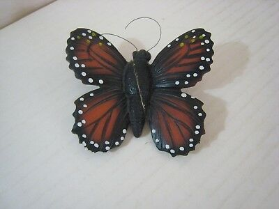 Monarch Butterfly Figure / Figurine; Ceramic ? Hand-Painted