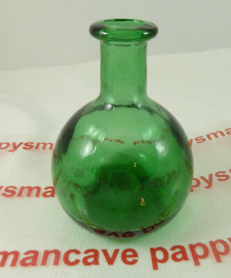 ANTIQUE~ DARK GREEN OVAL Vintage Glass BOTTLE