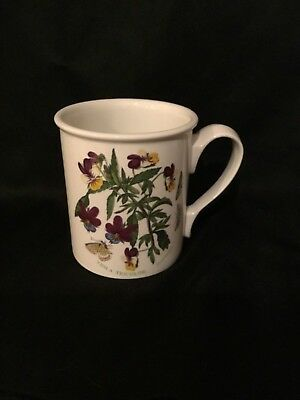 Portmeirion BOTANIC GARDEN Viola Tricolor Flowers Heartsease Coffee Mug Tea