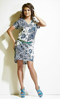 Dress Tunic Lounge Beach Casual Belted Made In Europe Silk Cotton S M L Xl 2Xl