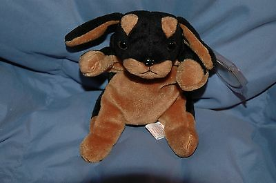 Ty Doby the doberman puppy Beanie Baby new with tags mint