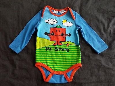 Boys new MR STRONG romper size 0