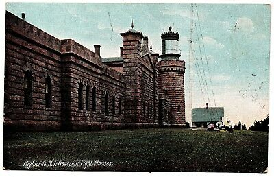 Highlands N.J. Navesink Light Houses 5744 Germany Vintage Postcard New Jersey