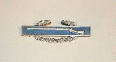 VINTAGE  MILITARY WWII US combat infantry badge MEDAL PIN STERLING SILVER
