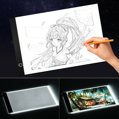 Dimmable USB A3A4 LED Light Box Tracing Board Art Stencil Drawing Copy Pad Table