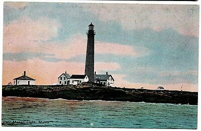 Petit Manan Light Lighthouse Maine Vintage Postcard H.C. Leighton 28064