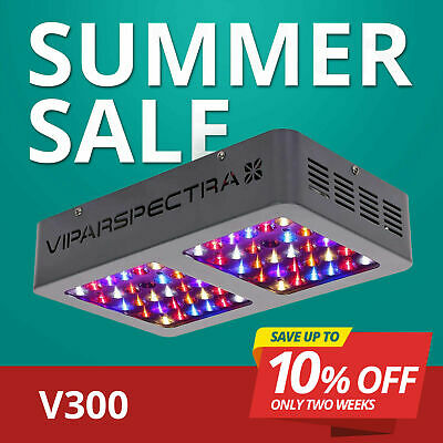 VIPARSPECTRA 300W LED Grow Light 12 Band Full Spectrum with ON/OFF Switch