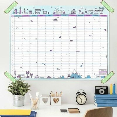 2019 Gift 365 Days Paper Wall Calendar Plan Schedule Learning Large School
