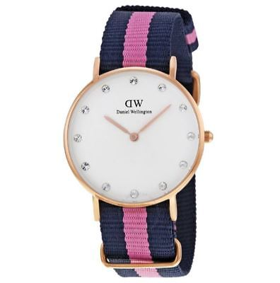 98a86e1c65ae DANIEL WELLINGTON WINCHESTER White Dial Pink Textile Quartz Woman s Watch  0952DW
