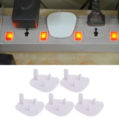5Pcs UK Power Socket Outlet Mains Plug Cover Baby Child Safety Protector Guard