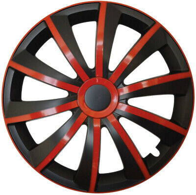 red 4x15/'/' Wheel trims for Vauxhall Astra 15/'/' black