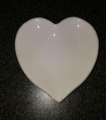 The White Company Heart Shaped Ceramic Soap/Candle Dish - brand new 13cms H/W