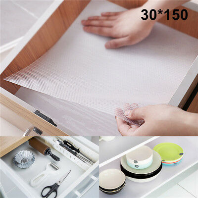 Clear EVA Non Slip Waterproof Drawer Liner Kitchen Cupboard Table Protector Mats