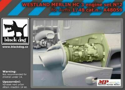 Black Dog A48059 1/48 Agusta-Westland Merlin HC.3 engine set N°2