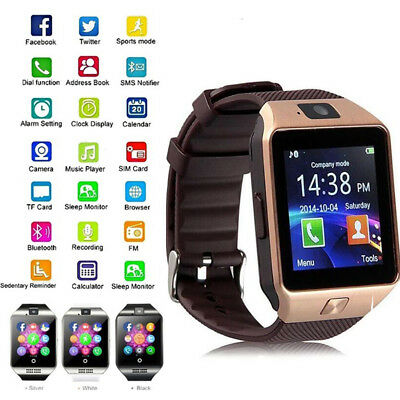 DZ09 Smart Watch Phone & Camera SIM Bluetooth & Android Compatible Xmas Gifts UK