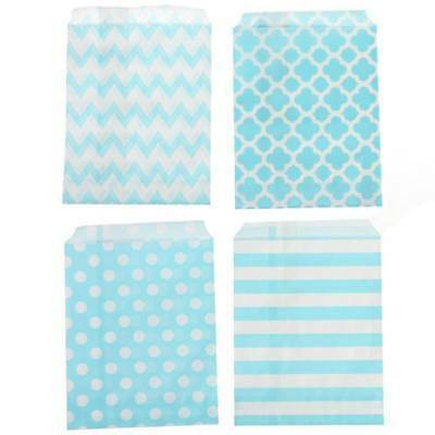 25pcs Striped Polka Dot Wedding Candy Bar Bags Party Gift Bags Paper Bag Beauty