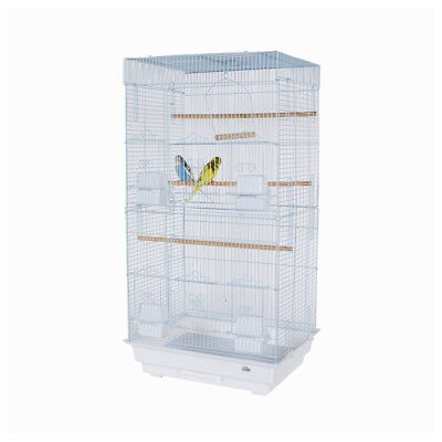 Pet Ting White Rose Bird Cage with handle For Finch Canary Budgie Pre Built