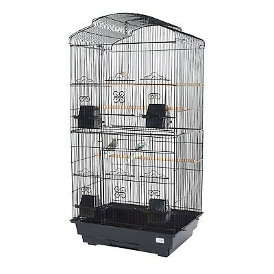 Pet Ting Bluebell Black Cage with Black Stand For Finch Canary Budgie Cockatiel