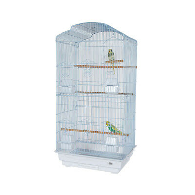 Pet Ting Bluebell White Cage For Finch Canary Budgie must connect back panel