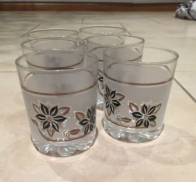 Set of 6 short frosted glasses