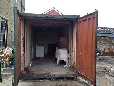 20ft steel shipping container site office storage unit looks a bit rough but dry