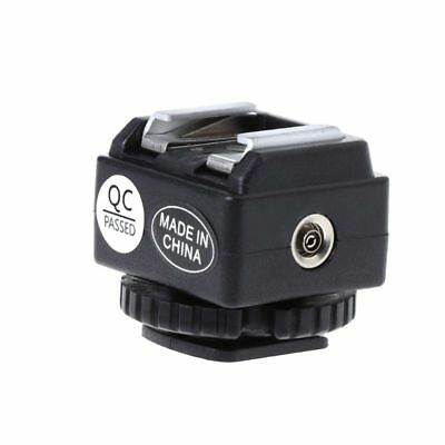 3e07e57a01 Hot Shoe Converter Adapter PC Sync Socket Port For Nikon Flash To Canon  Camera