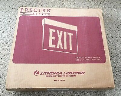 Lithonia Lighting Lrp 1 Rc 120 277 Pnl Exit Sign Led Red Letters New In