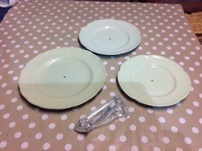 Vintage Grindley / Johnson Bros Greendawn 3 Tier Cake Stand Afternoon Tea Time