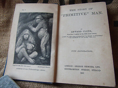 Story of Primitive Man, 1902 Antique Anthropology Book, Anthropological, Darwin