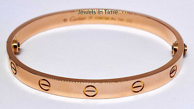 Cartier Love Bracelet Size 17 18k Rose Gold Certificate & Screwdriver B6035617