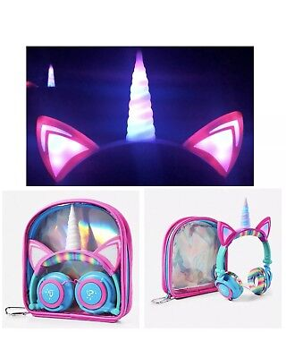 Justice Unicorn Light Up Headphones BRAND NEW Sold Out Online!