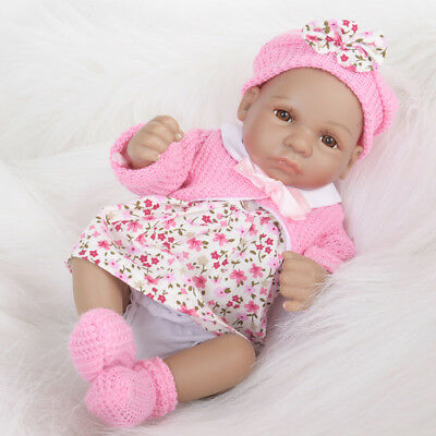 Realistic 18inch Silicone Reborn Doll Newborn African Baby Doll Mold Gifts
