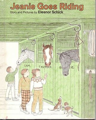 Jeanie Goes Riding - Horse Story & pictures by Eleanor Schick - 1969 H/B