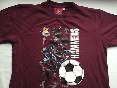 West Ham United FC Official junior T-Shirt. For age 11-12 years.
