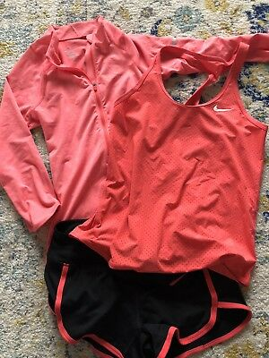 Womens Nike Dri Fit Outfit Pullover Tank & Shorts XS