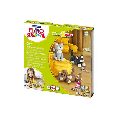 Fimo Kits For Kids Form & Play Polymer Modelling Oven Bake Clay Set Cat