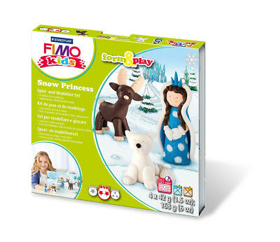 Fimo Kits For Kids Form & Play Polymer Modelling Oven Bake Clay Snow Princess