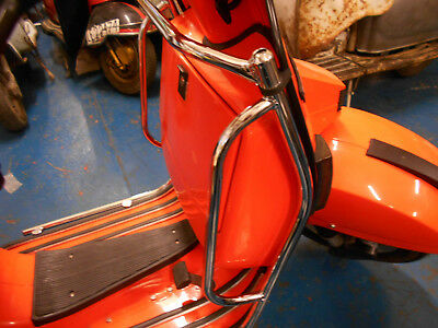 Vespa PX PE LML 2T T5 Front Protector Crash Bars in Chrome Easy Fit