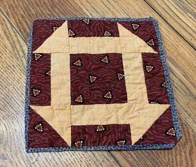 4 Civil War c 1860s QUILT pcs Antique Monkey Wrench MADDERS Browns