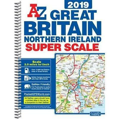 Great Britain Super Scale Road Atlas 2019 (A3 Spiral) Geographers' A-Z Map Co Lt