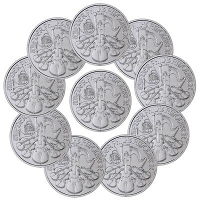 Lot of 10 2019 Austria 1 oz Silver Philharmonic €1.50 GEM BU SKU55550