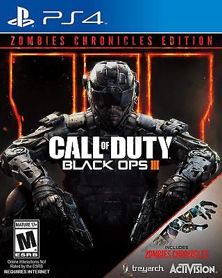 Call of Duty Black Ops 3 III Zombies Chronicles Ed. [Sony PlayStation 4 PS4] NEW