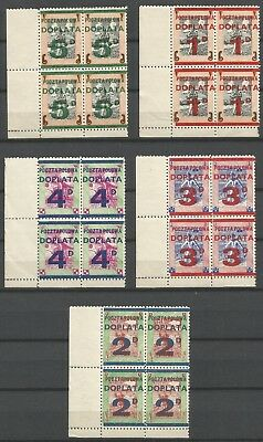Poland,WWII,Field Post,Exile Gouv.Block of 4,MNH